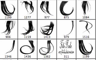 髪の毛のブラシツール