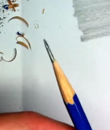 鉛筆を描きやすくやすれたら完成
