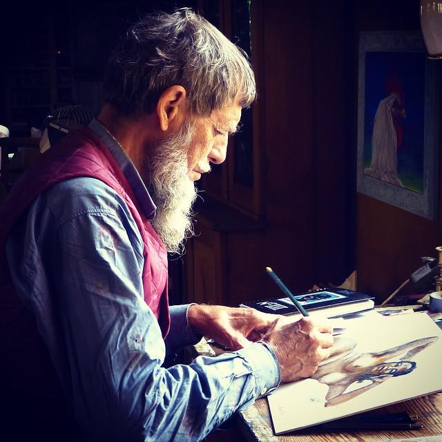 絵を描く人