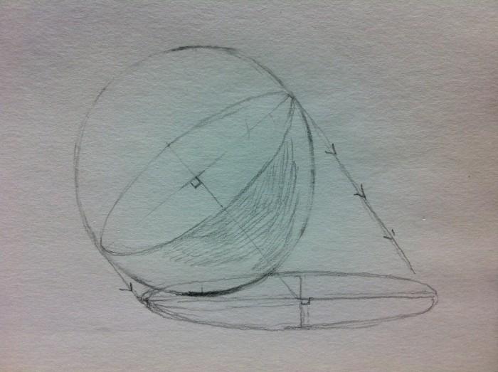 球体の影の落ち方