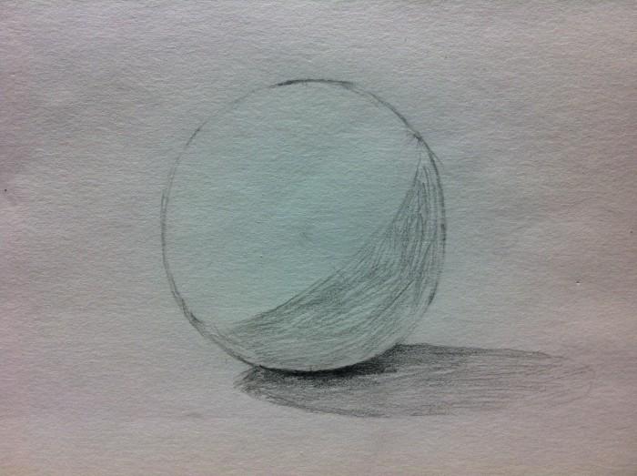 球体の影を描く