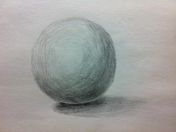 球体を描く