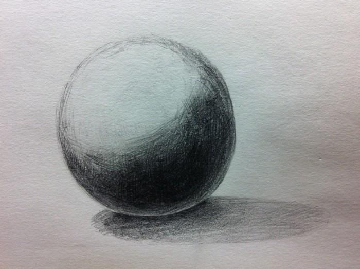 球体のデッサン